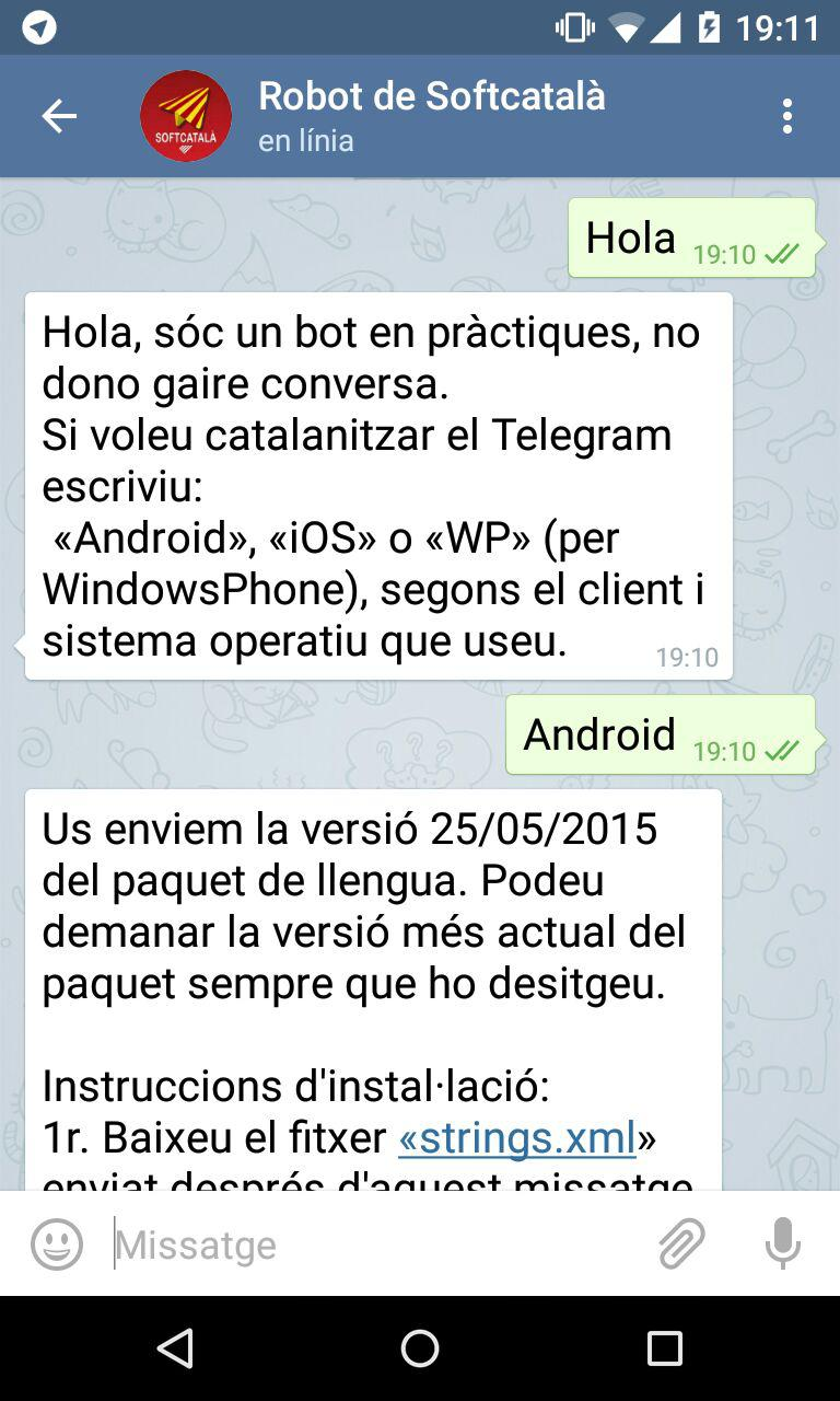 Captura robot del Telgram