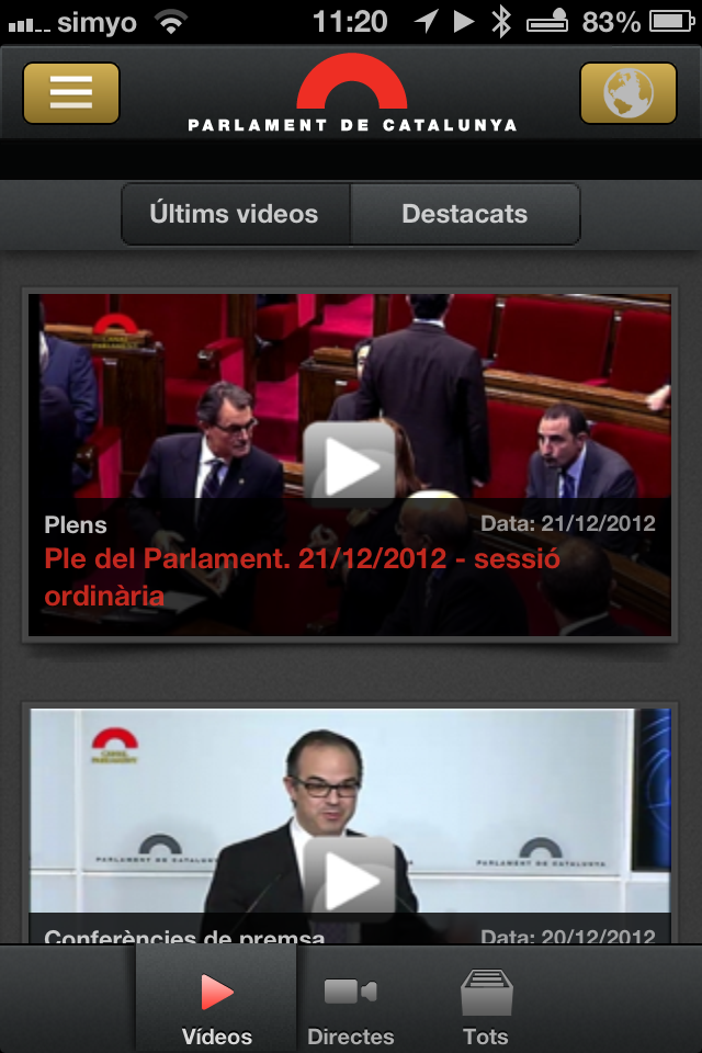 Imatge destacada 1 del Canal Parlament
