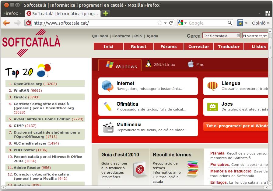 Imatge destacada 1 del Paquet català per al Firefox