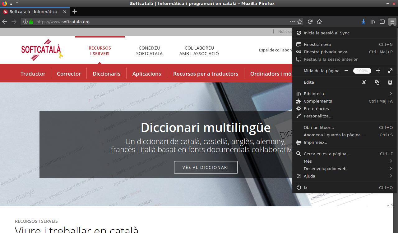 Imatge destacada 1 del Paquet català (valencià) per al Firefox