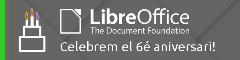 LibreOffice - 6é aniversari