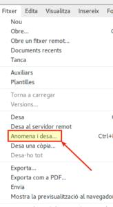LibreOffice - Anomena i desa