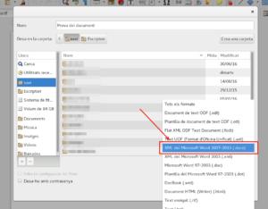 LibreOffice - Desa com a DOCX