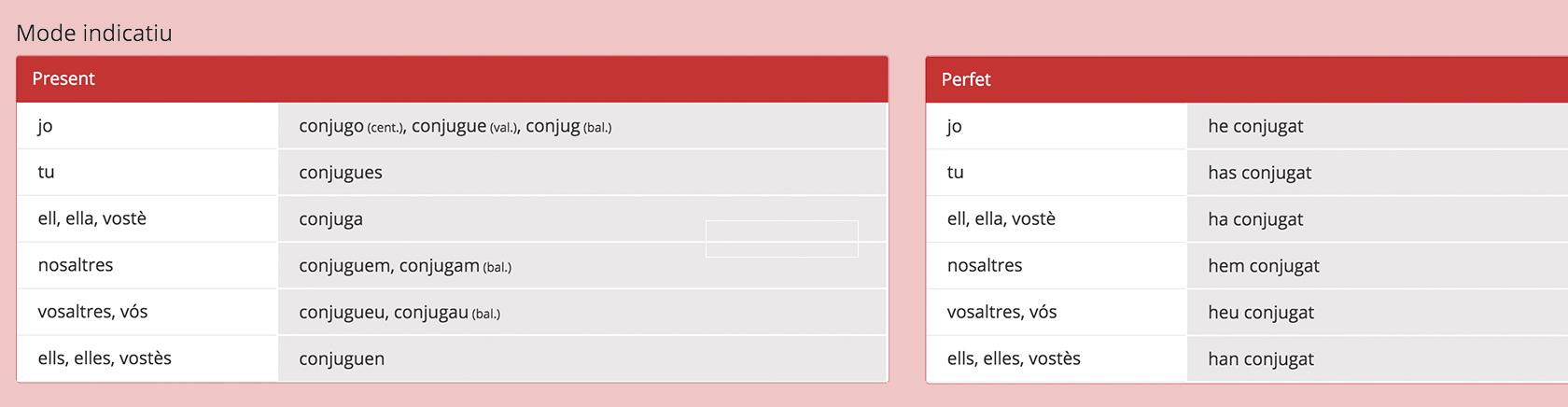 Prova el nostre conjugador de verbs