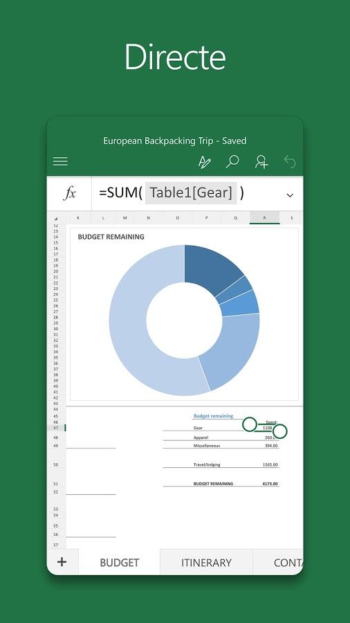 Imatge destacada 3 del Excel Mobile