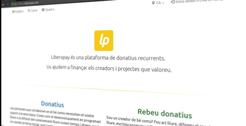 Softcatalà presenta la traducció al català de Liberapay