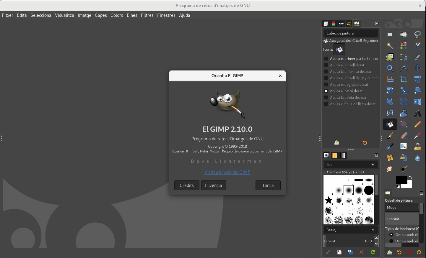 Softcatalà presenta la traducció al català del programa de retoc fotogràfic GIMP 2.10