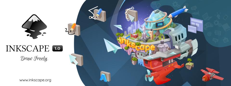 Publicat el programa de dibuix vectorial Inkscape versió 1.0